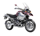 Primer plano de la motocicleta dual-deportes — Foto de Stock