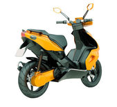 Modern scooter isolated — Stock Photo