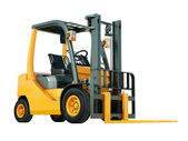 Forklift truck isolated — Stock Photo