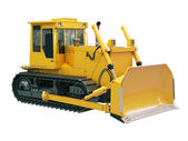Heavy crawler bulldozer isolated — Stock Photo