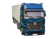 Semi-trailer truck isolated — Stock Photo