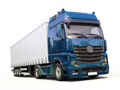 Semi-trailer truck — Stock Photo