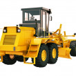 Stock Photo: Modern grader isolated