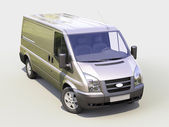 Gray commercial delivery van — Stock Photo