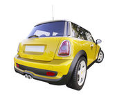 Modern compact city car — Stock Photo