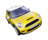 Modern compact city car — Foto Stock