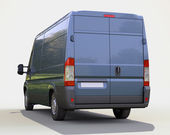 Blue commercial delivery van — Stock Photo