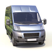 Blue commercial delivery van — Foto Stock