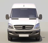 Commercial van — Stock Photo