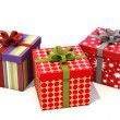 Stock Photo: Gifts with ribbons