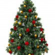 Stock Photo: Christmas tree isolated