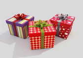Gifts with ribbons — Foto de Stock