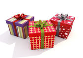 Gifts with ribbons — Stock Photo