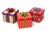 Gifts with ribbons — Stockfoto