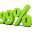 Stock Photo: Percentage rate icon on white background