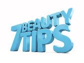 3d Beauty tips — Stock Photo