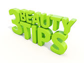 3d Beauty tips — Stock Photo