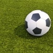 Soccer ball on grass — Stock Photo #48660351