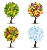 Ağaçlar 9 — Stok Vektör