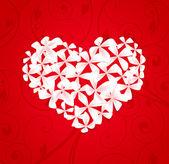 Corazón floral — Vector de stock