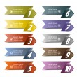 10 number banners — Stock Vector #25614115