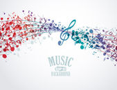 Music background — Vector de stock