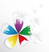 Färger blomma — Stockvektor