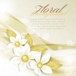 White flowers — Stock Vector