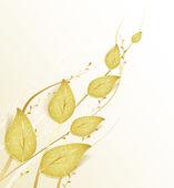 Gouden bladeren — Stockvector