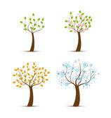 Fyra årstider — Stockvektor