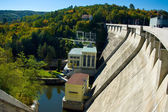 Hydroelectric power dam on the Vranov. — Stock Photo