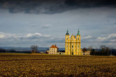 Baroque pilgrimage church of the Virgin Mary. — Stok fotoğraf