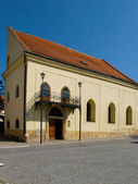 The old Jewish part of the city Boskovice. — Stock Photo