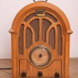 Radio, a modern replica of an old radio with 30 years of last century — Stock Photo