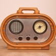 Radio, a modern replica of an old radio — Stock Photo