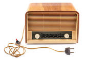 Old Radio, with 60 years of last century, on a white background — Stock Photo