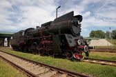 Railway, riding the rails locomotive — Stock Photo