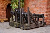 Medieval cannon, mitrailleuse — Stock Photo