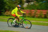 Cycling, teenager riding a bike — Stock Photo
