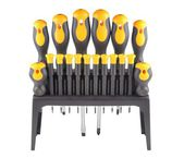 Screwdrivers, a set of tools in the toolbox, and isolated on a white background — Stock Photo