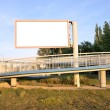 Blank Billboard, advertising and descent for bicycles and disabled of flyover — Stock Photo