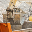 Arm of excavator bucket — Foto Stock