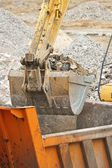 Arm of excavator bucket — Stock Photo