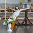 Stock Photo: Figure of crucified Christ inside church, Easter, Poland