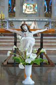 The figure of the crucified Christ inside the church, Easter, Poland — Stock Photo