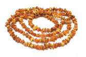 Amber necklace, natural and untreated — Стоковое фото