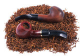 Pipes and tobacco isolated on white — Stock Photo