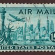 Постер, плакат: Postage Stamp New York Air Mail Stamp