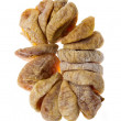 Dried fig fruit on white background — Stock Photo