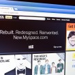 MySpace is redesigned and back online - Stock Photo